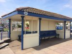 Victorian shelter on Teignmouth sea front