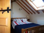 Upstairs double bedroom with quality bedding