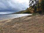 une des plages du lac Taureau (il y a 34 km de plages)