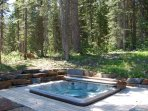 The Pinnacle: Ski right to your sunken in hot tub and feel like you are right in the middle of a forest!