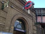 Parsons Green tube station (District line) 5 min walk from the apartment.
