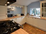 Chapel Cottage large country dinning kitchen seats 4, over looking the cottage garden