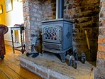 Gas Flamed fire for those snuggly nights on the sofa