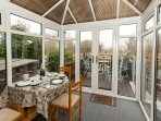 Heated conservatory with panoramic views over the River lark and open countryside