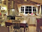 Guests state 'the best equipped kitchen we have ever experienced'.  Homely, cosy and practical.