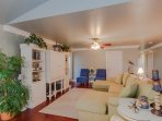 Enjoy cherished family time in the comfy living room.  either with or w/o the large screen TV.
