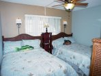Guest bedroom has TWO FULL SIZE pillowtop beds.  Perfect for large families or two couples. Cable TV