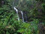 Waikani Falls along the Road to Hana drive