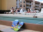 Play shuffleboard and get acquainted with other guests.  Pointeast is a family friendly resort.