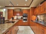 Gourmet kitchen with two Sub Zero refrigerators.
