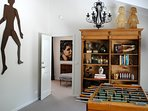 Games Room with Books and French 1930s Bebe Foosball machine