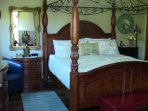 Master bedroom with king bed, private bath, and private deck with great views!