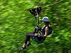 Zip-line across the Korana river canyon
