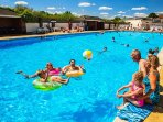 Heated outdoor pool at broadland sands book you family holiday with us.