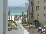 Walkway from our complex to the beach