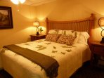 King size bed on the lower level