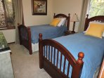 Twin beds on the main floor