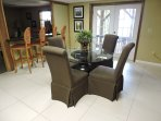 Game room and extra bar stools for onlookers