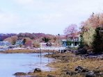 Seanook on the shore in Spring foliage.  The tide goes in and out 2ce a day.