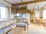 Lounge area in Hunstanton Lees Holiday Park book your family holiday.