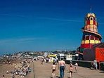Hunstanton sea front enjoy the summer and stay at Lees Holiday Park.