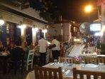 Bustling restaurants in old town