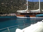 A boat trip day out from Kalkan harbour is fantastic !