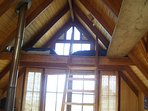 Attic which can comfortable sleep two people.   Attic has  specatcular ocean views.