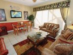 Open Floor Plan, Living Area, Dining Area for 4, Wall Mounted Flat Screen TV and Pool Access