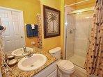 Downstairs Shared Hall Bath w/Walk In Shower