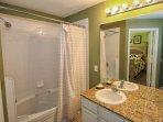 Upstairs En-Suite to King Master w/Shower & Tub Combo - View #2