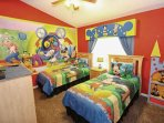Exciting Walt Disney Themed Twin Room w/Two Twin Beds, En-Suite Bath and Flat Screen TV