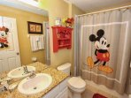 En-Suite Bath to Walt Disney Themed Twin Room w/Shower & Tub Combination