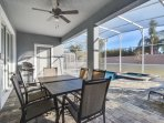 holiday homes for rent in orlando florida with covered backyard lanai