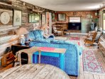 You'll love this home's charming, rustic interior!