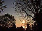 enjoy sunrise from the garden!