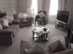 Lounge is a very spacious room. TV with Sky Viewing package including Sports. Courtesy broadband