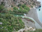 Excursion to Preveli Palm Gorge, only 1,5 hour by car away