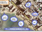 The map shows how ideally located the Bamboo is. It's a very short walk to the beach where you can rent surfboards...
