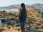 Enjoy your private balcony and the unhindered views of Poros island