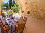 Outdoor dining area in the patio, an ideal spot for al-fresco dining
