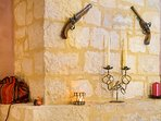 The villa is decorated with attention to every detail with some antiques