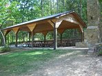 Picnic pavilion across the pond from Lakview Getaway