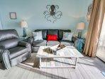 New leather furniture with memory foam sofa sleeper