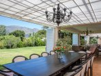 Main house verandah for private dining by appointment only