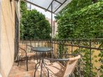Enjoy a wine or two on your private balcony