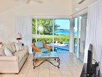 living room - views of pool and ocean
