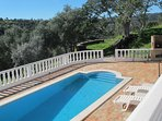 view pool, BBQ and fire place