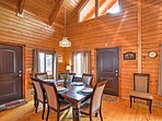 Enjoy special family meals around the dining room table.