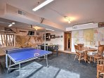 Play a friendly game of ping-pong or foosball against one of your companions.